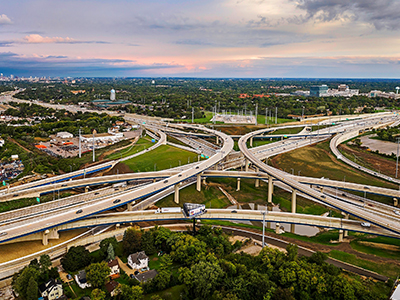 Zoo Interchange northbound aerial