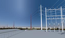Renderings of micogrid to power transit infrastructure