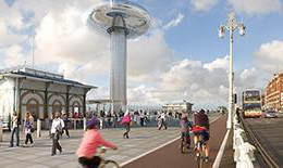 British Airways i360 and surrounding activity
