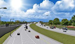 Elgin O'Hare Western Access Project highway rendering