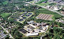 Aerial of Ejby Mølle 废水 Treatment Plant