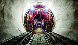 Interior image of tunnel boring