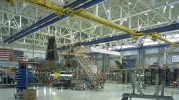 Inside Boeing facility