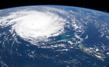 Hurricane image shot from above on International Space Station