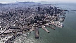 Aerial of the Port of San Francisco