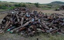 Munitions discard pile at Vieques