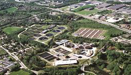 Aerial of Ejby Molle WWTP